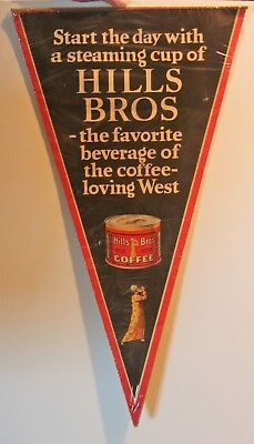 Hills Brothers Coffee Pennant Sign