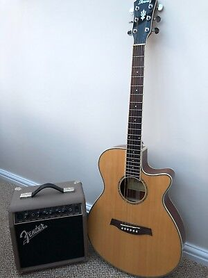 Electric Acoustic Guitar with amp in excellent condition.