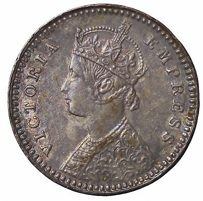 British India Queen Victoria 1896-C Silver 2 Annas KM#488