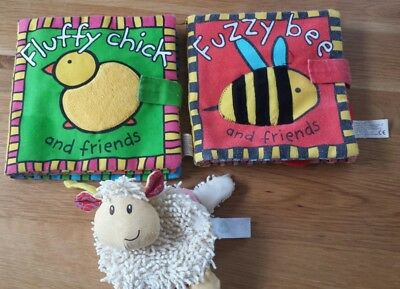 Bundle of 3 Soft Baby Books, elc, priddy books, fuzzy bee, fluffy chick
