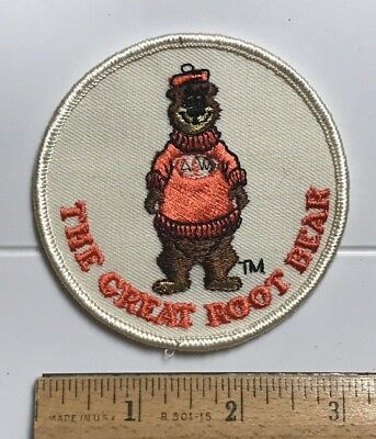 The Great Root Bear A&W Root Bear Masoct Souvenir Round Embroidered Patch