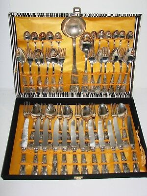 Vintage Silver Plated Kings Pattern Cutlery Set - 12 Place Setting