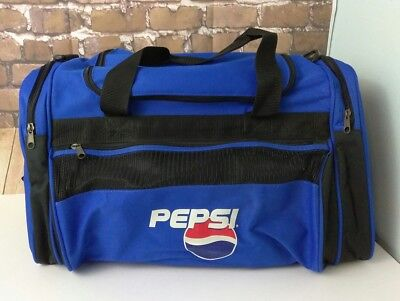 New Collectible PEPSI Blue Duffle Bag Sports Bag!! Promotional