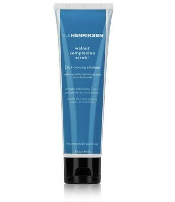 Ole Henriksen Walnut Complexion Scrub 2 in 1 Cleansing Exfoliator 3 oz. NEW BOX