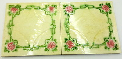 Pair of Art Deco Minton Tiles