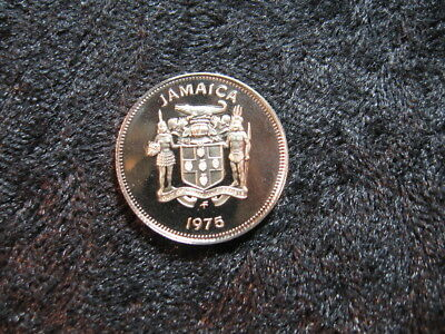 "1 old world Proof coin JAMAICA 5 cents 1975 KM53 ""crocodile"" low mintage"