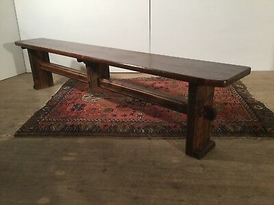Antique 19th Century Rustic Country kitchen / Dining Hall Window Seat Long Bench
