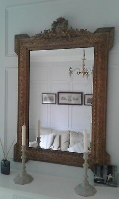 Antique late 19th Century French Mirror in original gilt
