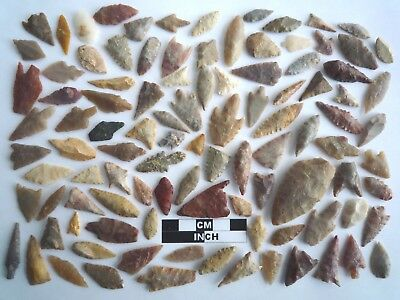 Neolithic Arrowheads x 100, Selection of Styles and Sizes - 4000BC - (1106)
