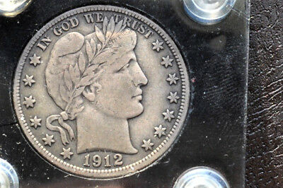 1912 P Barber Half Dollar an original VF + and Problem Free!
