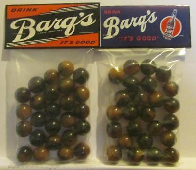 "2 Bags of Barq""s Rootbeer Advertising Promo Marbles"