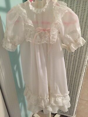 Baby Vintage Christening White Church Gown Size 3-6 Months