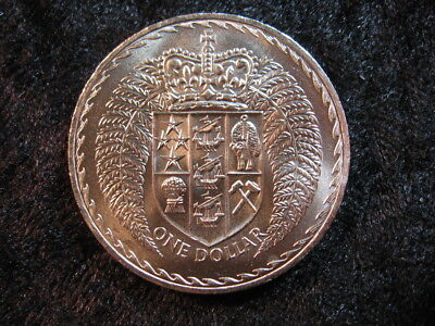 1 large old world coin NEW ZEALAND $1 dollar 1967 KM38.1 low mintage FREE S&H