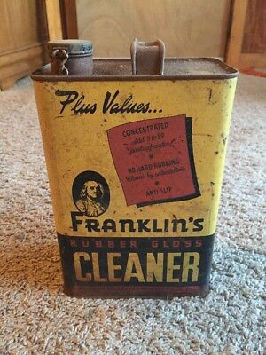 VINTAGE Franklin's  1 GALLON Rubber Glass Cleaner CAN