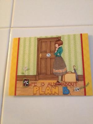 """New in Package Mary Engelbreit notecards set of 6 """"Life is all about plan B"""""""