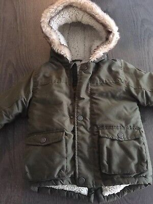 Boys hooded Parka Jacket 12-18 Months