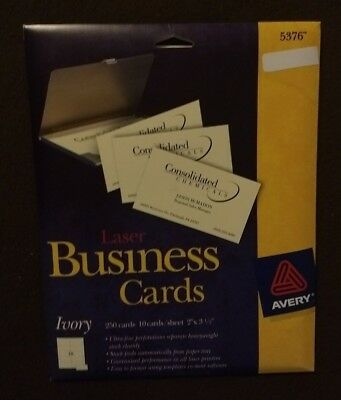 Avery printable microperf business cards laser 2 x 3 12 ivory avery ivory laser business cards 5376 2 x 35 250pack colourmoves