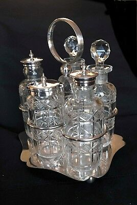 antique sterling silver cruet set
