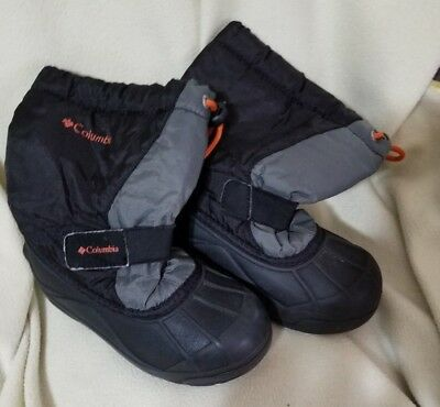 Columbia Toddler Boys Kids Winter Snow Boots Powderbug Black Size 12