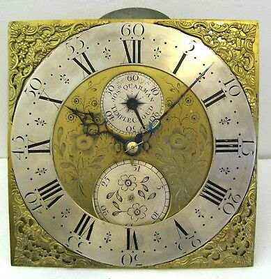 A Very Good Longcase  Movement - Quarman of Temple Cloud - Complete, Circa 1770.