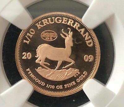 2009 Gold 1/10 Krugerrand Proof PF69 UCAM S Africa Coin Government on Wheels