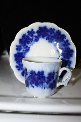 Vinranka by Gefle Flow Blue Swedish Vintage Porcelain, Percy, Cup and Saucer
