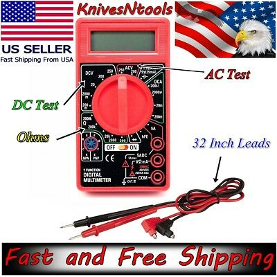 7 Function Digital Multimeter Leads Electrical Circuit Test Meter Detector Tool