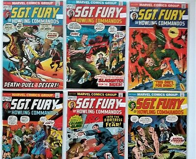 Sgt. Fury and his Howling Commandos Lot of 5 #107-112 Marvel Bags and Board