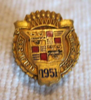 Vintage 1951 Cadillac Certified Craftsman Screw Back Lapel Pin or Tie Tack