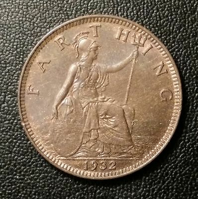 Great Britain 1932 Farthing, George V Modified Effigy