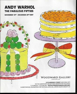 2007 Andy Warhol Art Fabulous Fifties Decorated Cakes Gallery Exhibit Print Ad