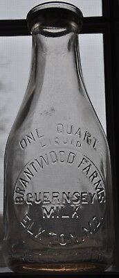 TREQ Brantwood Farms Dairy Milk Bottle Elkton Md 1944