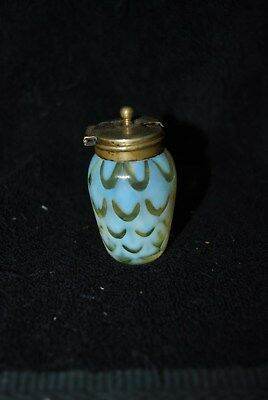 Extremely Rare Victorian Vaseline Opalescent Mustard Pot Shaker C1880S