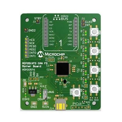 Interface Development Tools MCP251xFD CAN FD Mother Board