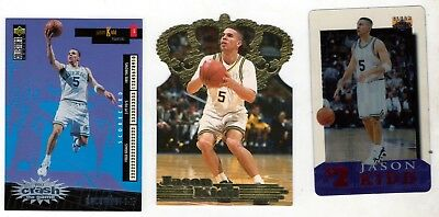 old Jason Kidd cards Clear Asset phone Pacific Gold Crown Crash Game rookie Cal