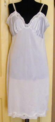 unbranded white size 40 full slip with dainty lace trim sleek classy beauty