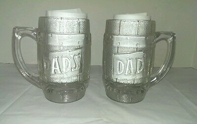 DAD'S ROOTBEER Glass Mug OLD GLASS lot of 2