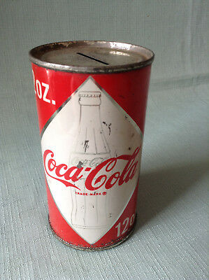 Coca-Cola Can Bank 1963 - second design change  Coke