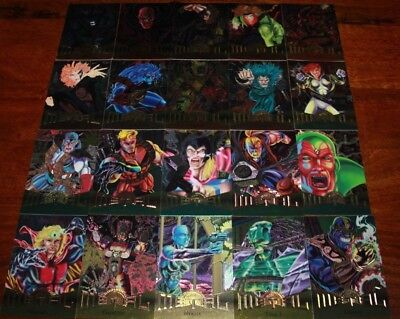 Marvel Metal 1995 Trading Card Lot