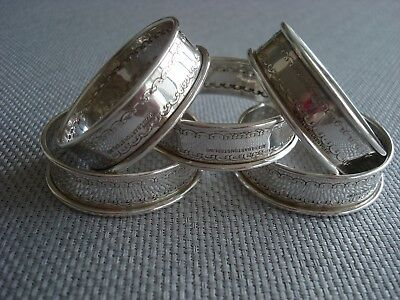 REED BARTON sterling silver ~ SET OF 5 NAPKIN RINGS ~ CLASSIC & FABULOUS!