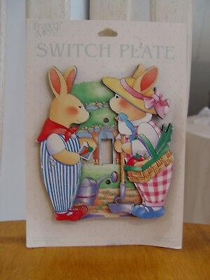 NEW Frances Meyer 3-D Bunny Rabbits Baby Child's Room Light Switch Plate