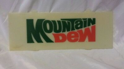 COOL OLD ORIGINAL RARE MOUNTAIN DEW SIGN Very hard to find machinecooler insert?