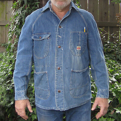 Vintage 1950's JC Penney's - PAY DAY CHORE WORK JACKET - Barn Coat Denim Payday