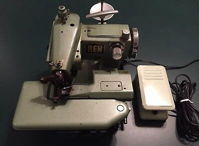 REX L808 Industrial Blindstitch Hemmer Portable Sewing Machine