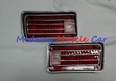 Rear Bumper Tail Lamp Light Lens L on 1957 Chevy Wiring Lights