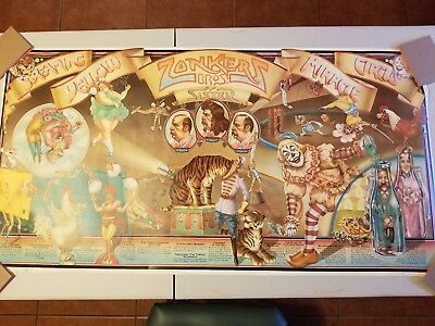 Screaming Yellow Zonkers Circus Poster 1970s Charles White Airbrush Vintage Cool