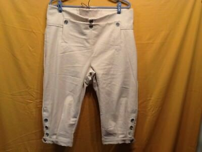 Knee Breeches, Size 34 Natural Rendezvous, Mountain Man, Colonial, Pirate