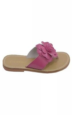 60161c92591d5 L AMOUR GIRLS PINK PATENT FLOWER FLIP FLOP SANDALS Size 3