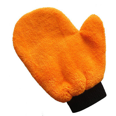 New Washing Brush Cleaning Glove Cloth Coral Velvet Plush Mitt Car Wash Mitten