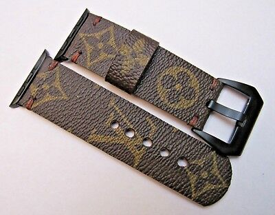 Louis Vuitton Upcycled Handmade Lv Monogram Strap/band For 38Mm Apple Watch